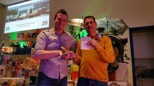 Hans Kok wint hoofdprijs 250 euro gratis verloting strooifolder